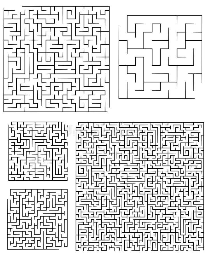 labiryntów asortymentów square ilustracja wektor