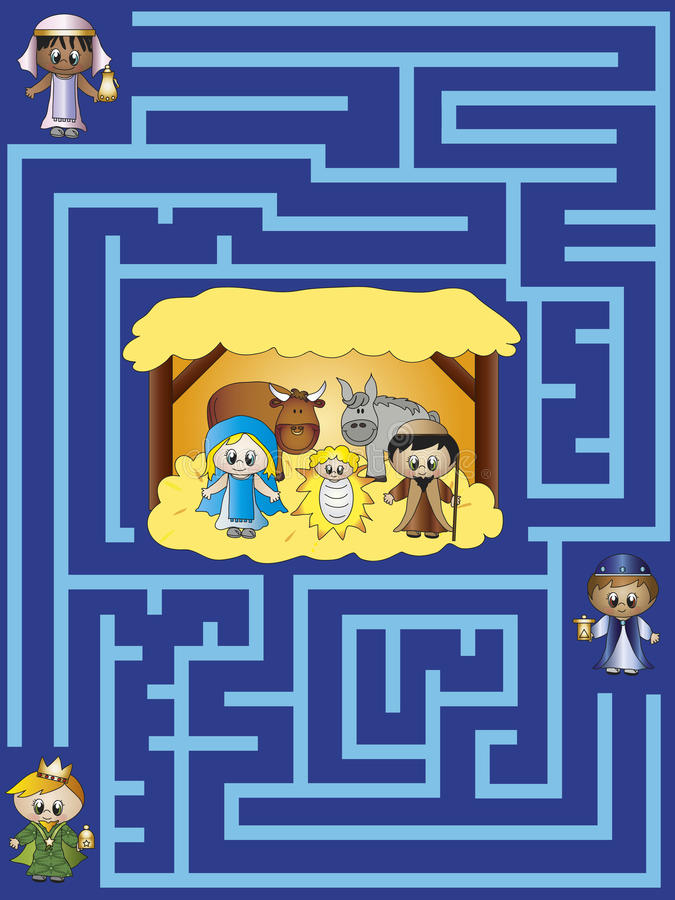 Labiryntów boże narodzenia royalty ilustracja