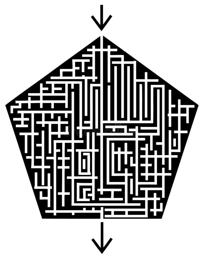 labirynt royalty ilustracja