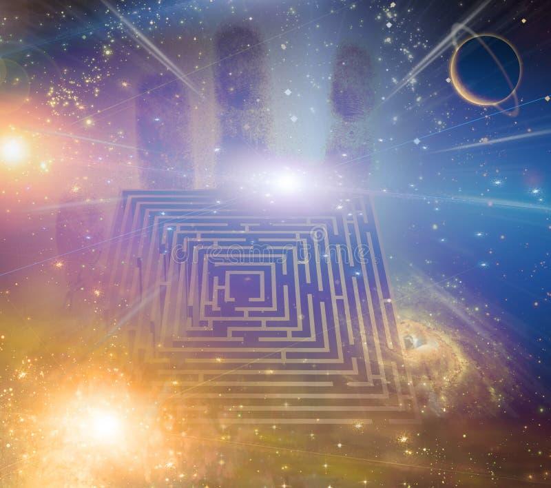 Labirynt gwiazdy ilustracji