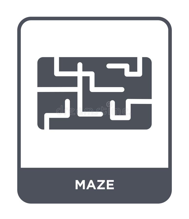 labirynt ikona w modnym projekta stylu labirynt ikona odizolowywająca na białym tle labirynt wektorowej ikony prosty i nowożytny  ilustracji