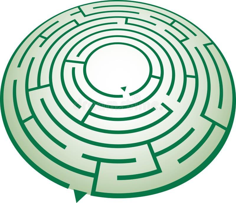 labirynt okręgu royalty ilustracja