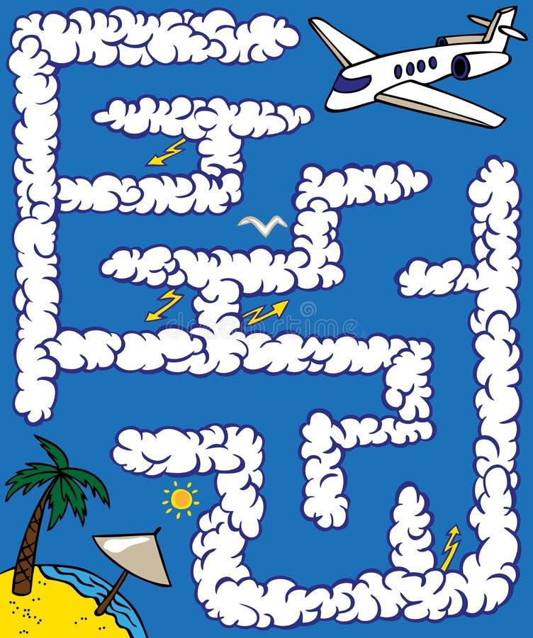 Labirynt płaska podróż ilustracji