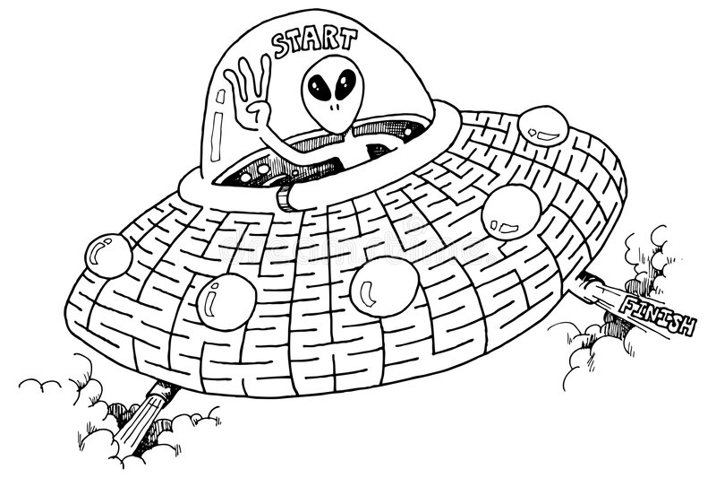 labirynt ufo royalty ilustracja