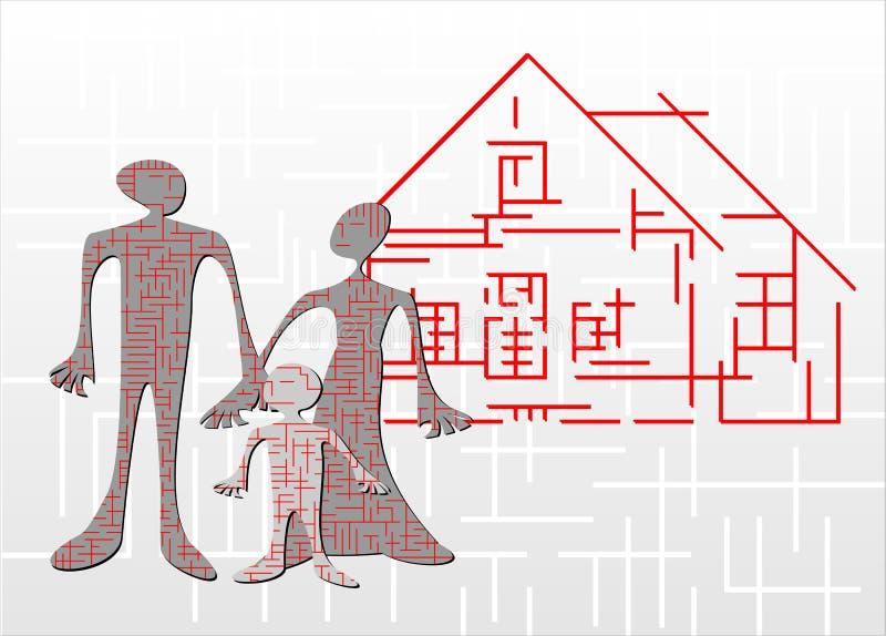 labirynt w domu ilustracji