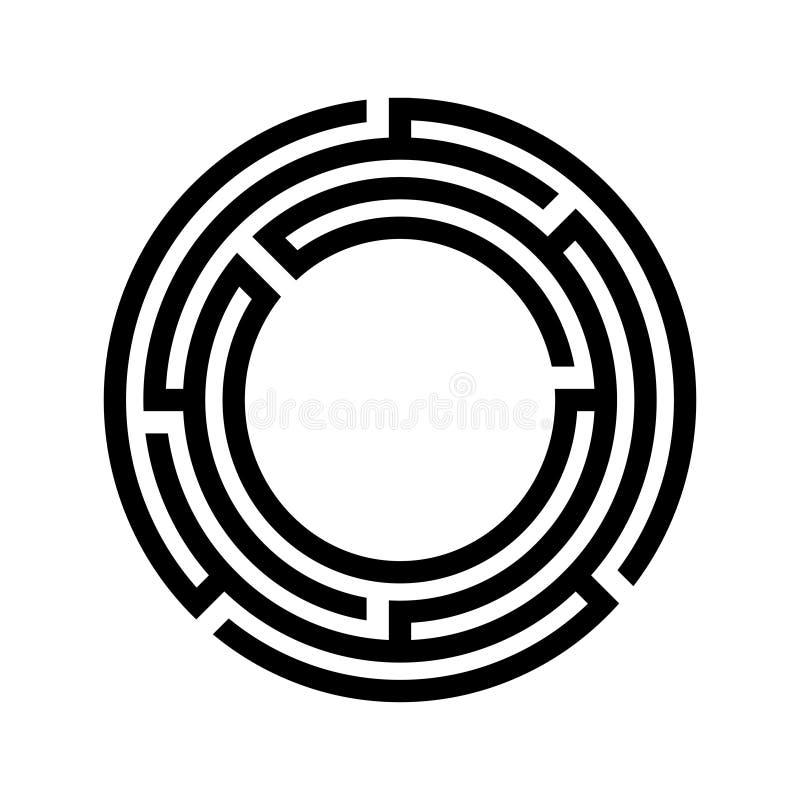 Labiryntu symbol Odosobniony bia?y t?o ilustracji
