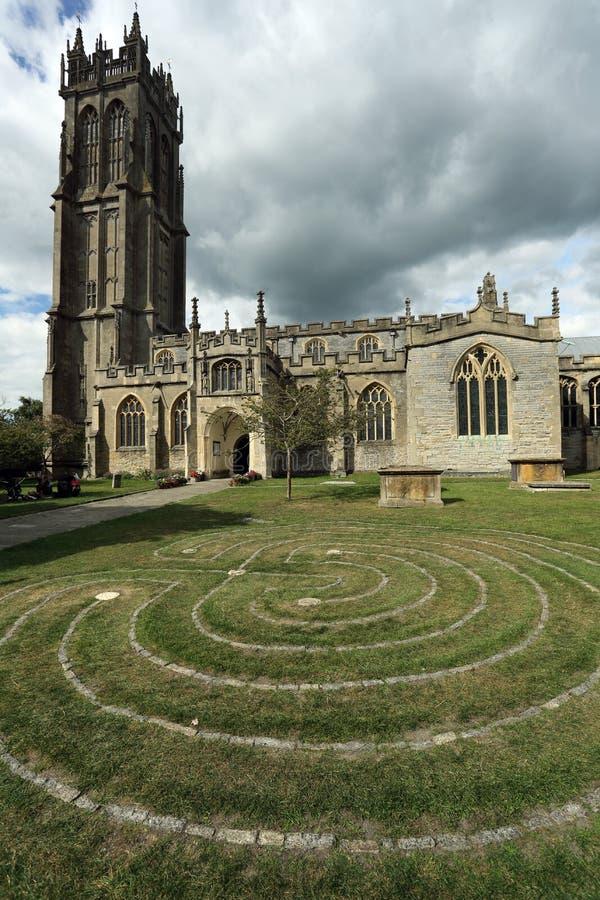 Labitynt przed kościół St John w Glastonbury miasteczku, Somerset, Anglia, UK obrazy royalty free
