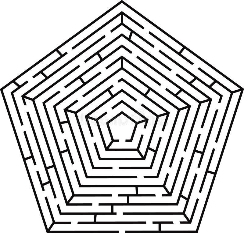 labityntu pentagon royalty ilustracja