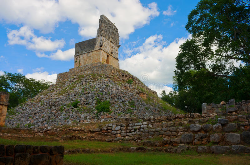 Labna archaeological site in Yucatan Peninsula, Mexico. Labna a Mesoamerican archaeological site and ceremonial center of the pre-Columbian Maya civilization royalty free stock photography