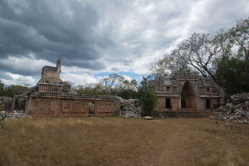Labna mayan ruins. Ancient mayan arch, Labna mayan ruins, Yucatan, Mexico stock photography