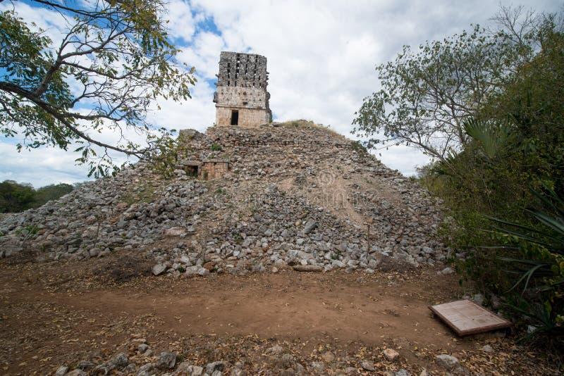 Labna mayan ruins. Ancient mayan arch, Labna mayan ruins, Yucatan, Mexico stock photos