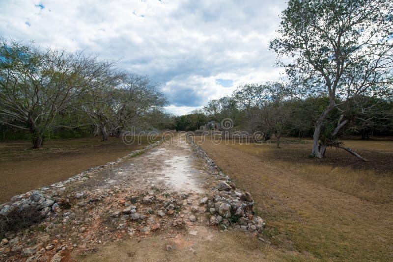 Labna mayan ruins. Ancient mayan arch, Labna mayan ruins, Yucatan, Mexico royalty free stock photo