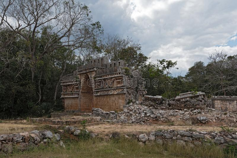 Labna, Mesoamerican arkeologisk plats och ceremoniell mitt av denColumbian Mayacivilisationen, Yucatan, Mexico arkivbilder