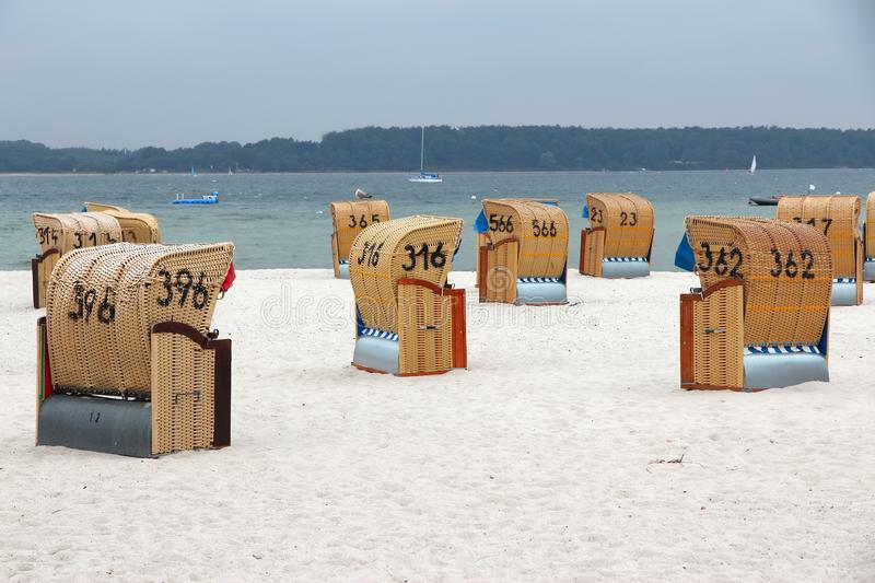 Laboe beach stock images