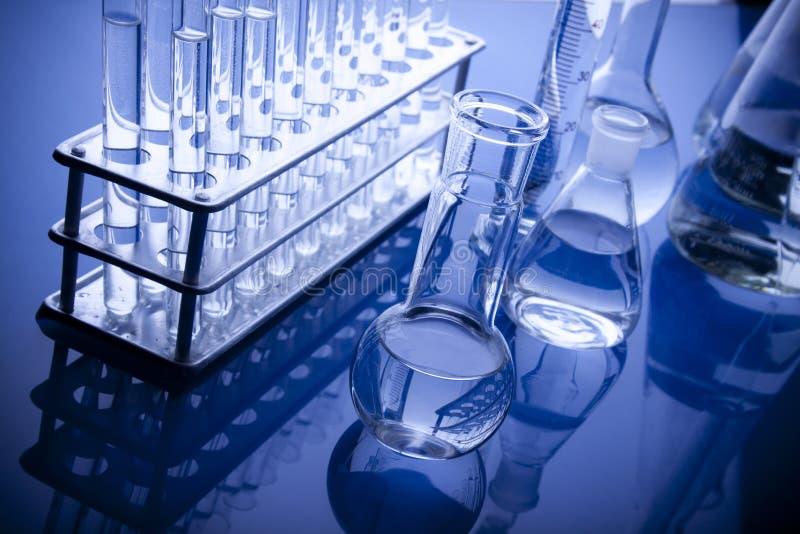 labolatory błękitny glassware zdjęcia stock