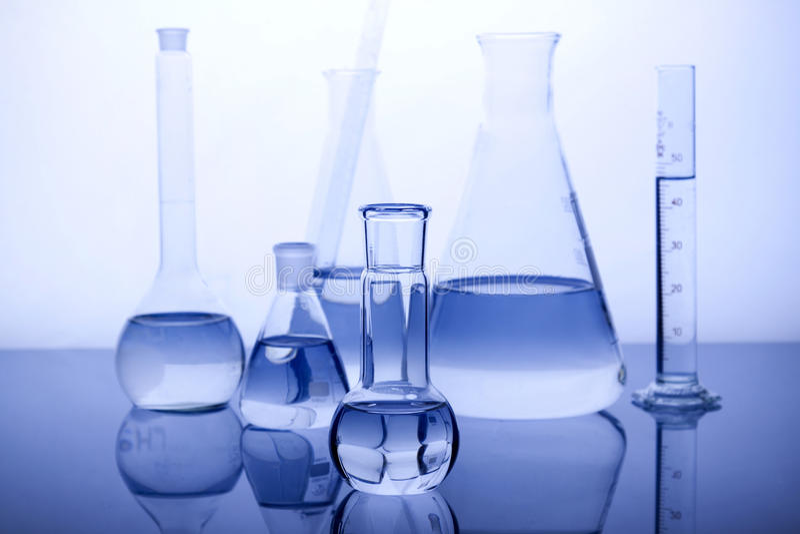Labolatory Glassware stock photography