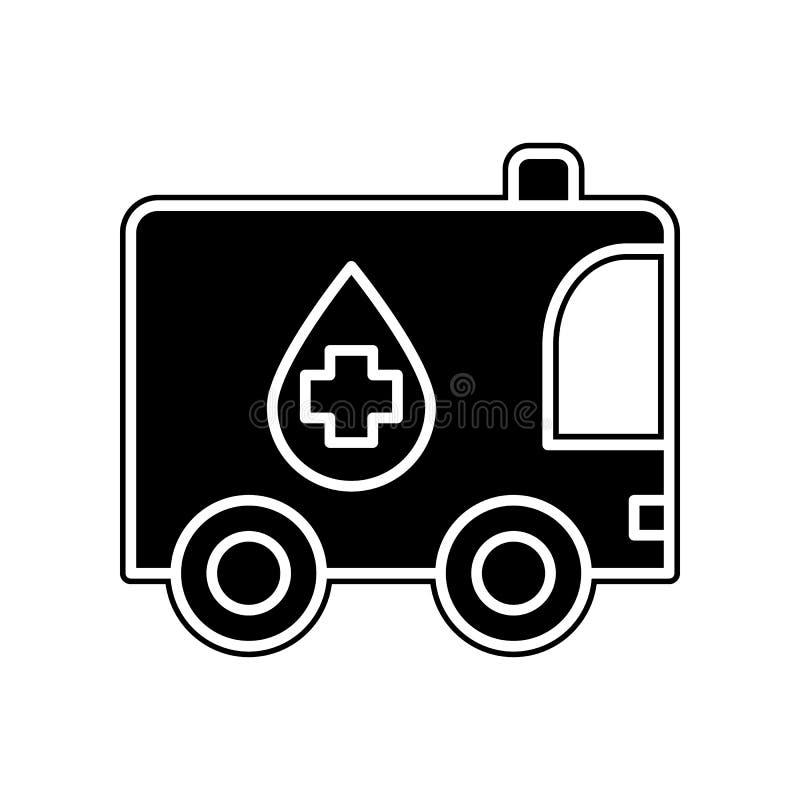 Labor auf Radikone Element der Blutspende für bewegliches Konzept und Netz Appsikone Glyph, flache Ikone für Websiteentwurf und lizenzfreie abbildung