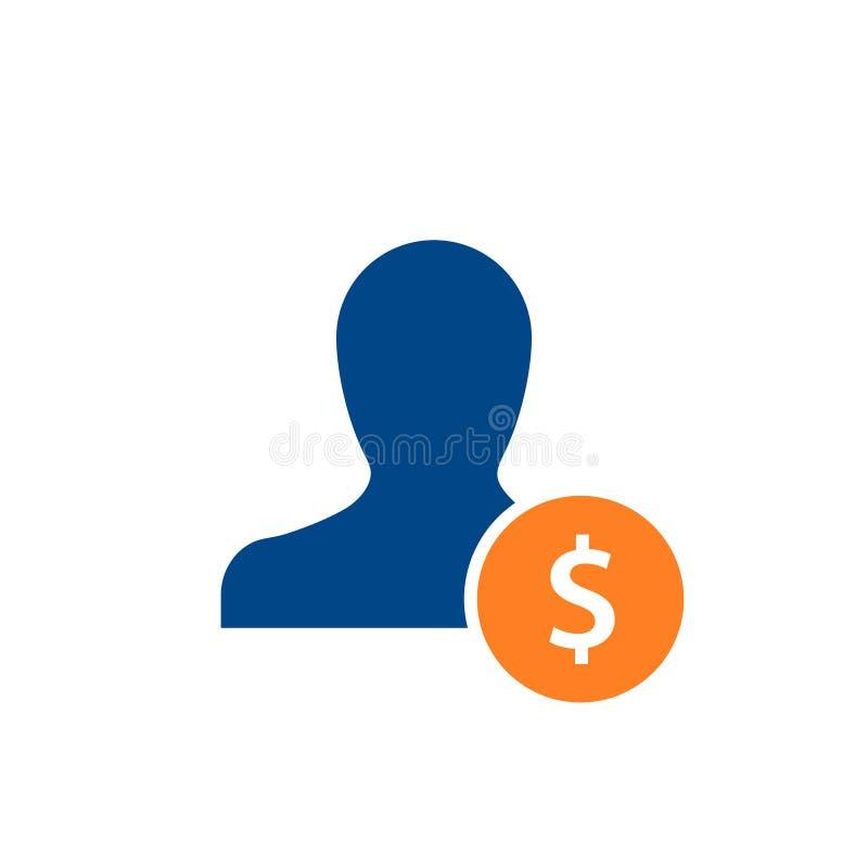 Labor cost concept icon vector illustration