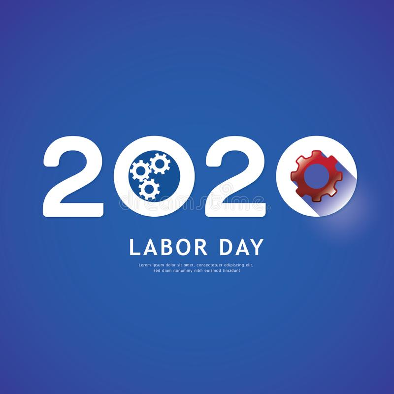 Free Labor Day 2020 Gear Concept. Vector Royalty Free Stock Photo - 163350735