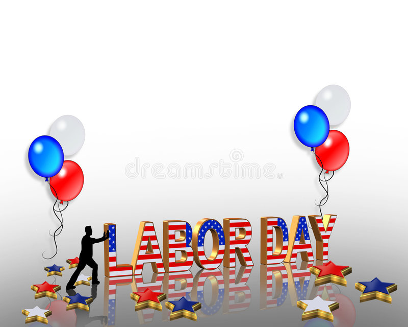 Labor Day 3D Graphic