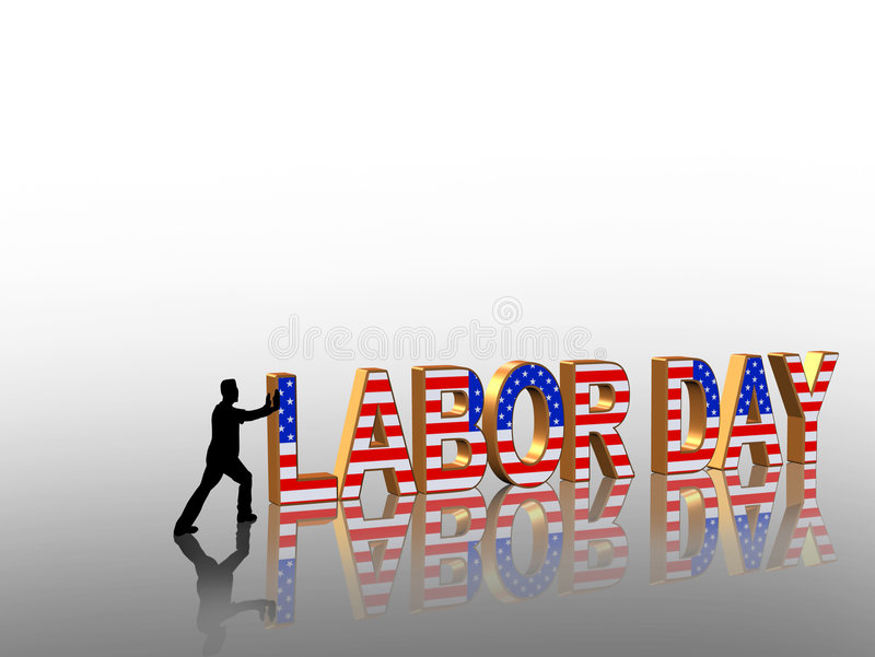Labor Day 3D Graphic royalty free stock photography
