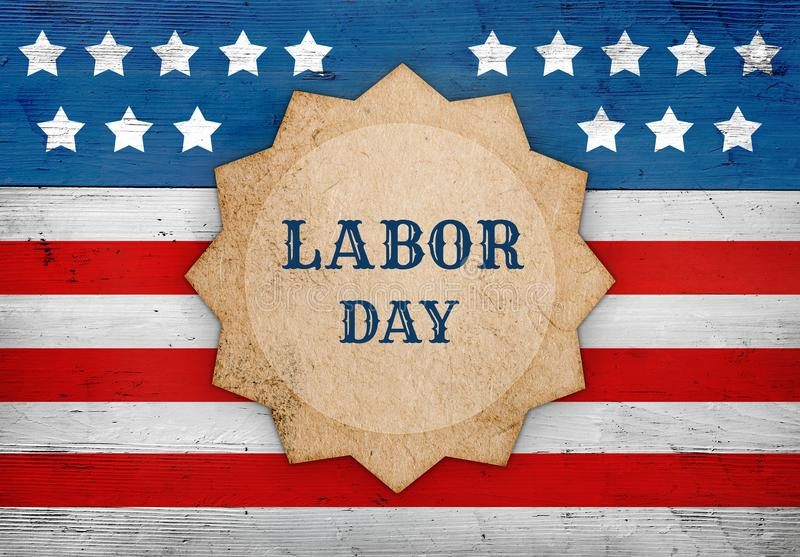 Labor Day american flag, patriotic background stock photo