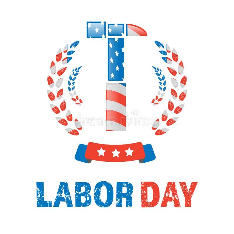 Labor day banner stock illustration