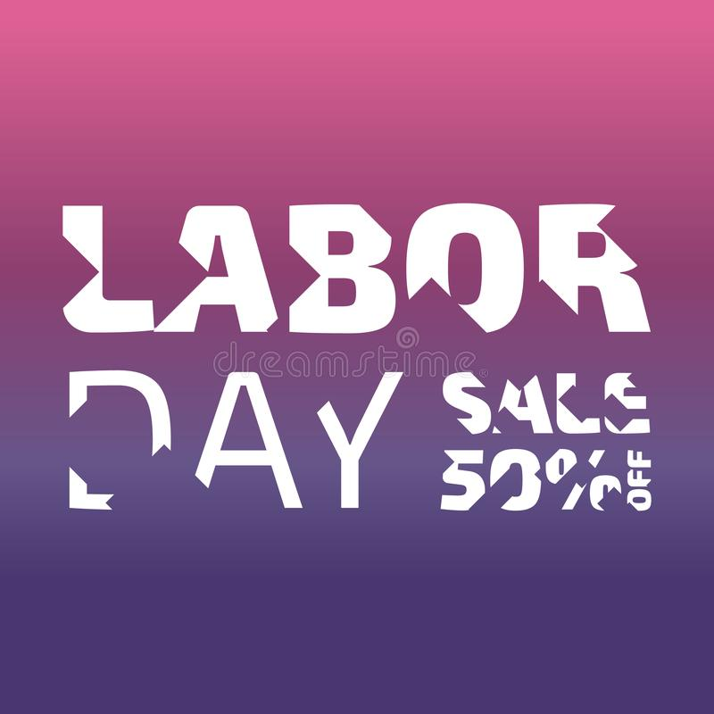 Labor day banner royalty free illustration