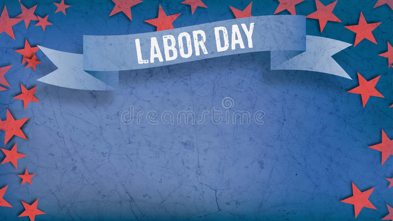 Labor day on banner, Fourth of July, background, red stars, copy stock images