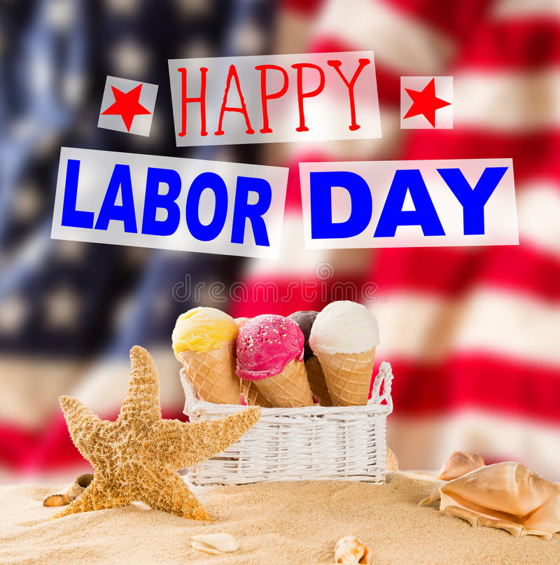 Labor day banner, patriotic background royalty free stock image