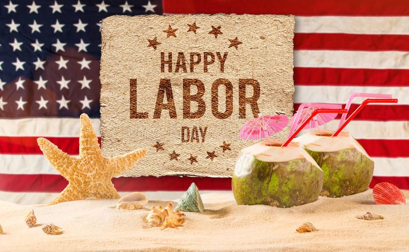 Labor day banner, patriotic background stock images