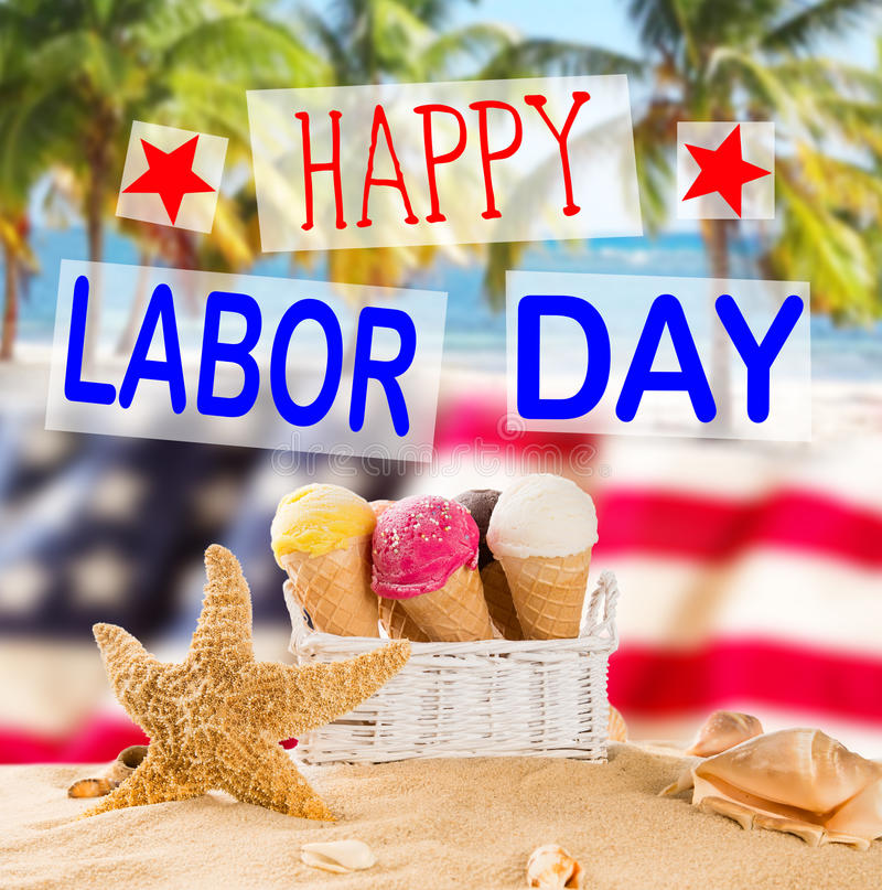 Labor day banner, patriotic background royalty free stock photography