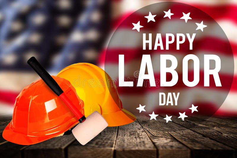 Labor day banner, patriotic background stock photos
