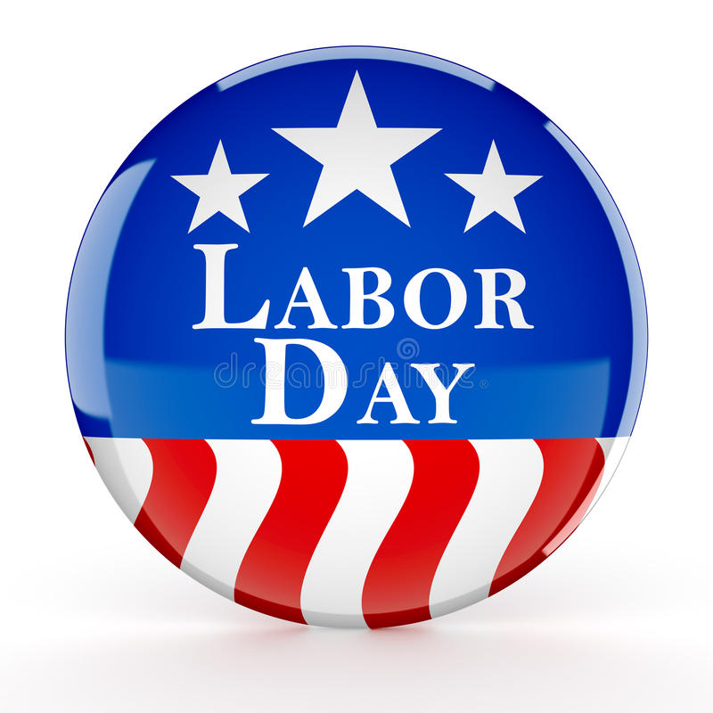 Download Labor Day Button Stock Illustration - Image: 98761361