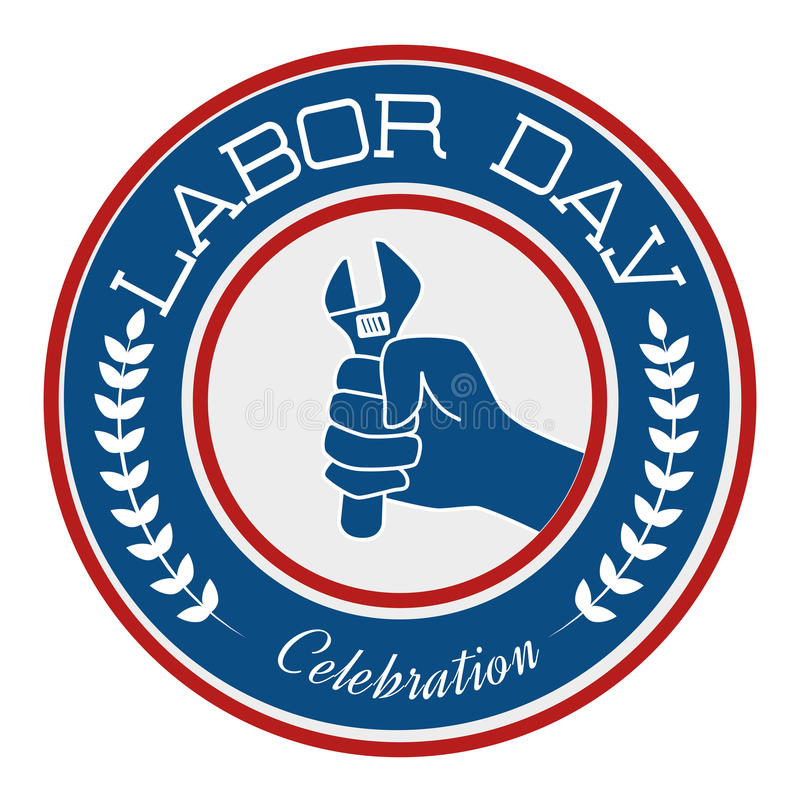 Labor day card design, vector illustration. royalty free illustration