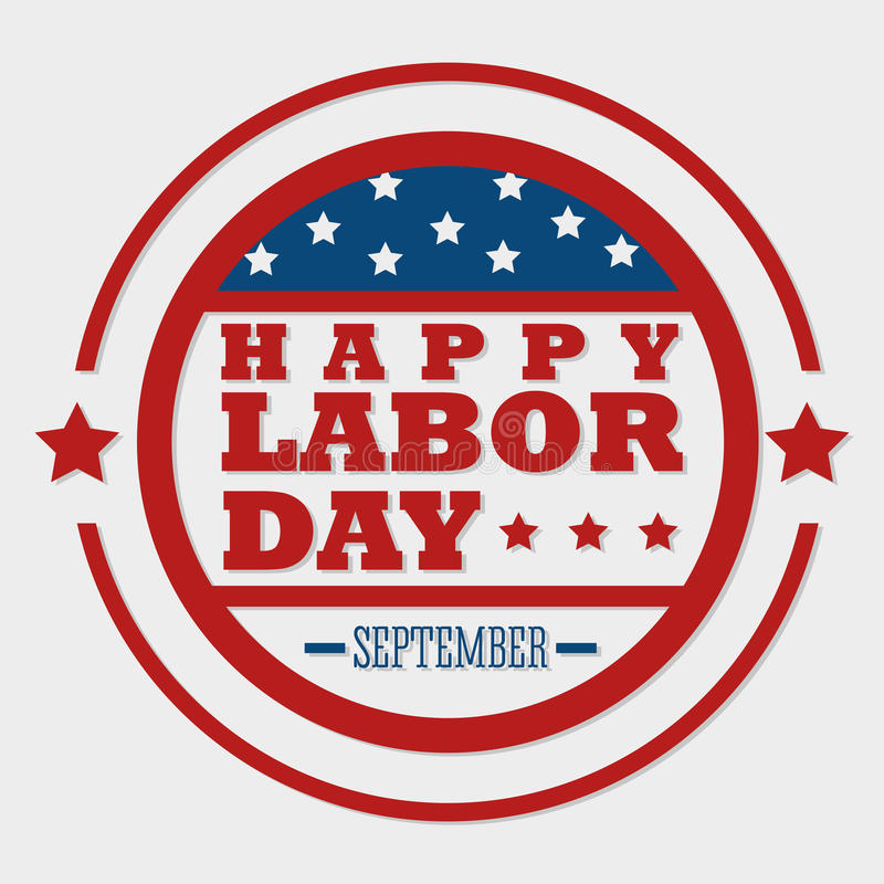 Labor day card design, vector illustration. royalty free illustration