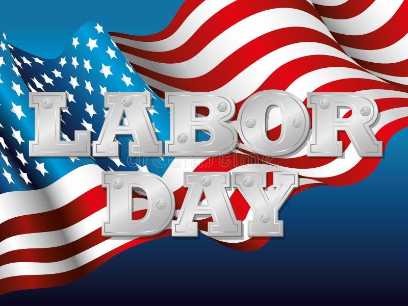 Labor day card design, vector illustration. stock illustration