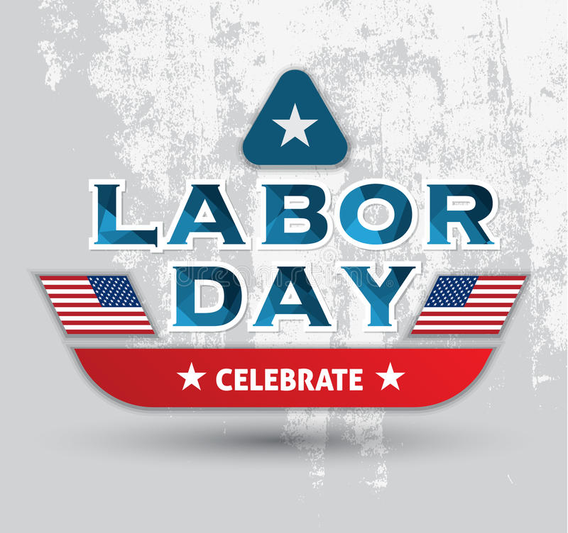 Labor day celebrate poster vector illustration
