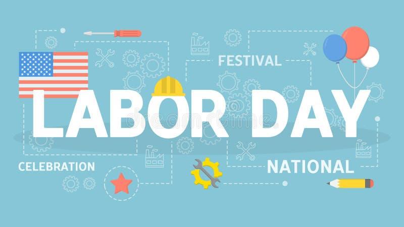 Labor day concept illustration royalty free illustration