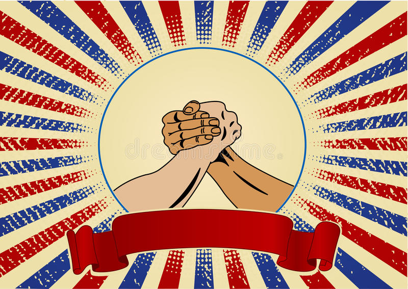 Labor Day Design With Workers Hands Royalty Free Stock Images