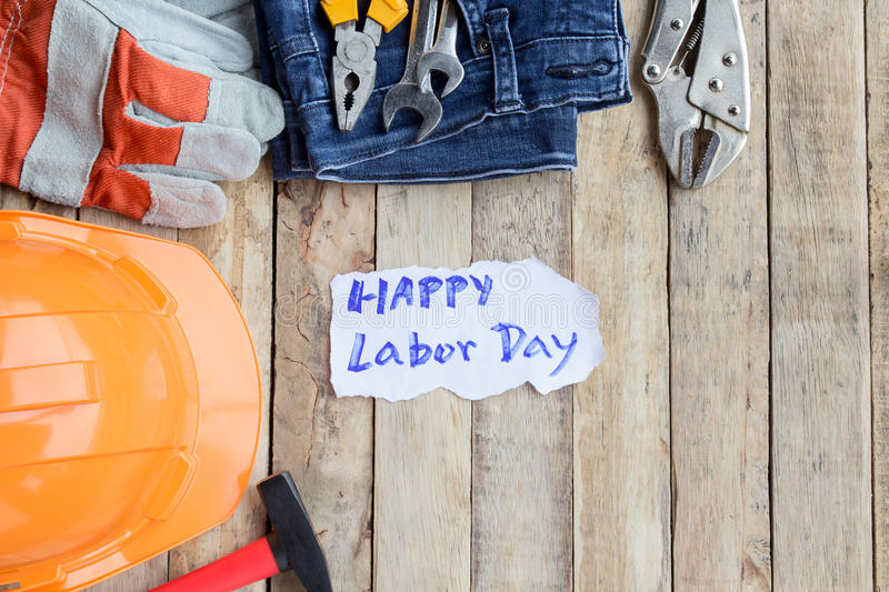 Labor Day is a federal holiday of United States America stock photography