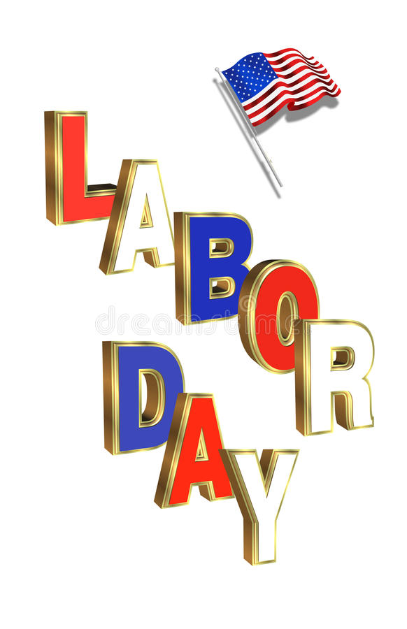 Download Labor Day graphic stock illustration. Illustration of dimensional - 14997372