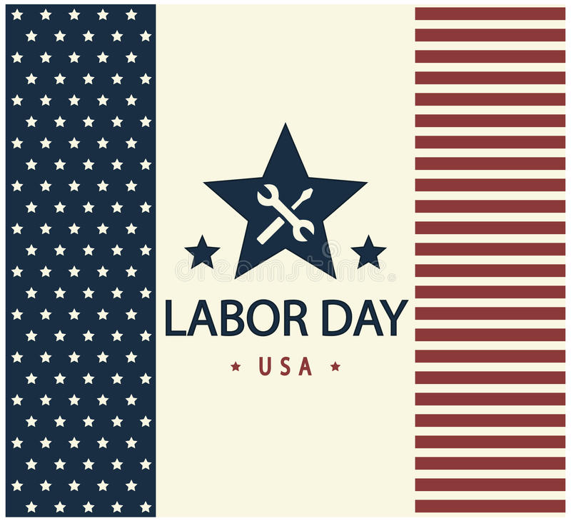 Labor Day royalty free illustration