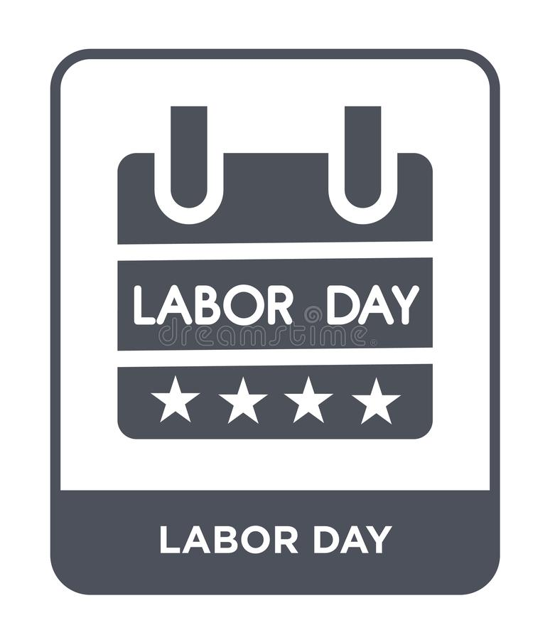 labor day icon in trendy design style. labor day icon isolated on white background. labor day vector icon simple and modern flat vector illustration