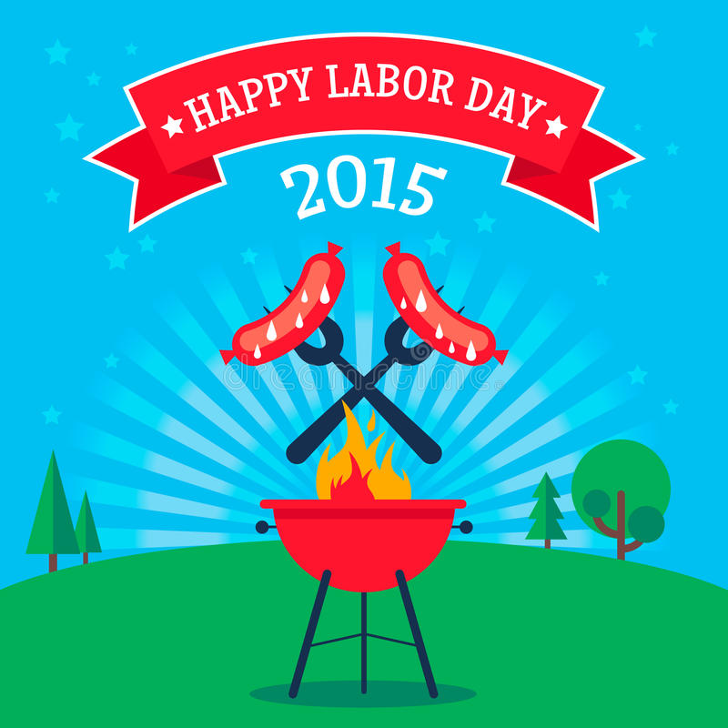 Free Labor Day Invitation Royalty Free Stock Images - 56339449