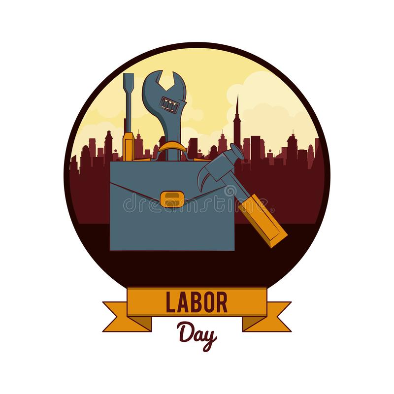 Labor day may eleven card royalty free illustration