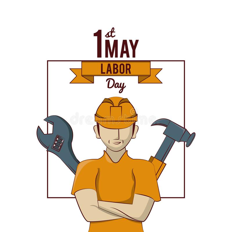Labor day may eleven card stock illustration
