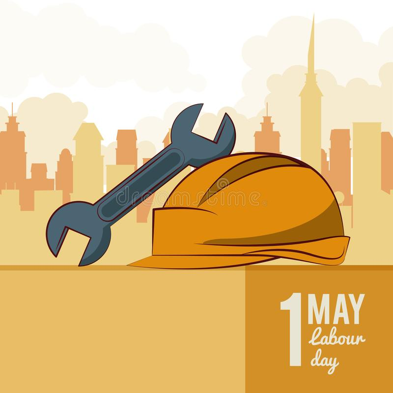 Labor day may eleven royalty free illustration