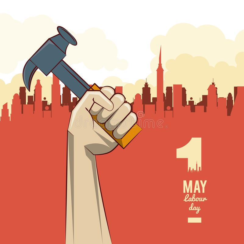 Labor day may eleven stock illustration
