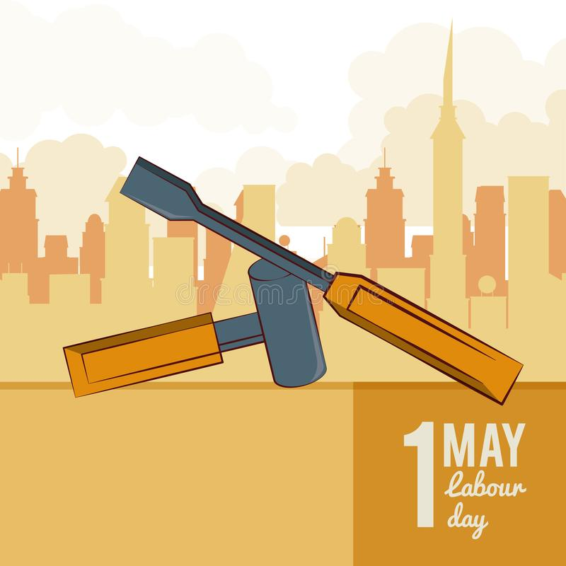 Labor day may eleven vector illustration